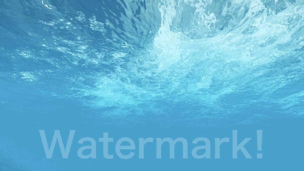 Watermark!